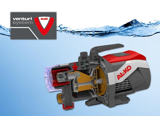 Vodná technika AL-KO | Venturi system